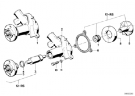 Cooling system-water pump