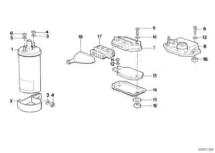 Control unit transitorized ignition