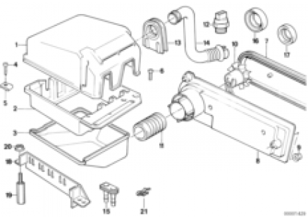 Relay motor/control unit-box
