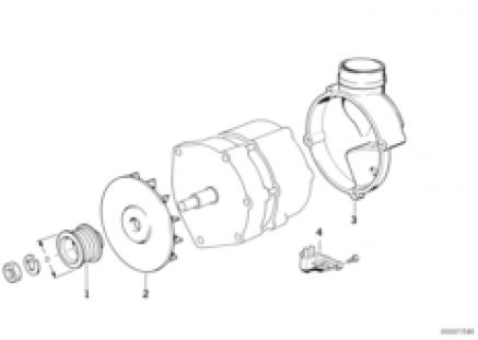 Alternator, individual parts 105A