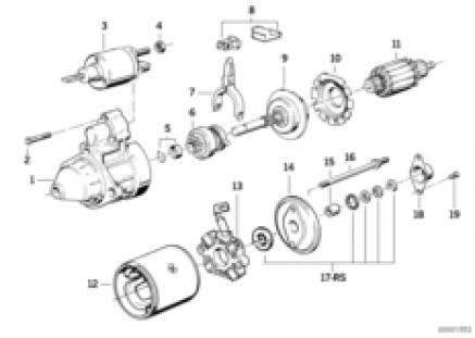 Starter parts 1,4kw