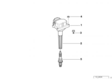 Igtn. coil/sparkplug connector/sparkplug