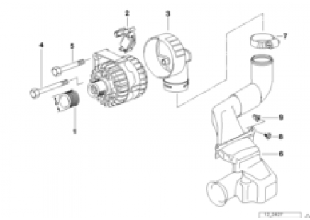 Alternator parts 90a