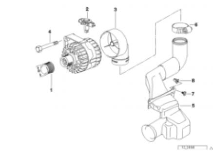 Alternator, individual parts 120A