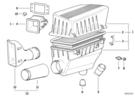 Intake silencer / Filter cartridge Intake silencer / Filter cartridge
