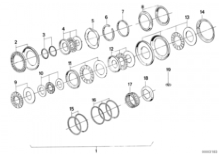 ZF 4hp22/24 ax-bearing single parts