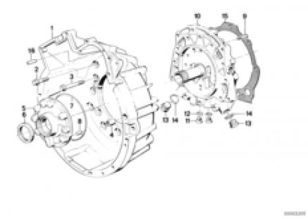 ZF 4hp22/24 housing parts/lubric.system