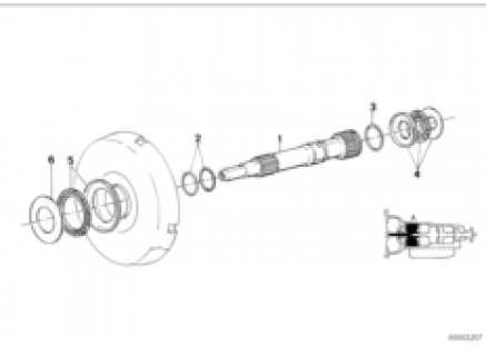 ZF 4hp22/24 drive shaft