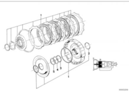 ZF 4hp22/24 drive clutch B