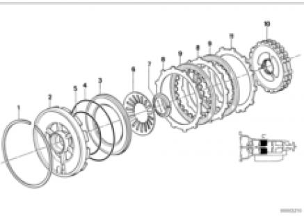 ZF 4hp22/24 brake clutch C'
