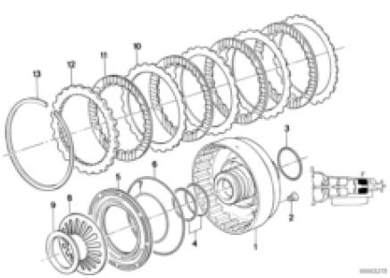ZF 4hp22/24 brake clutch f
