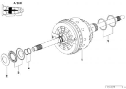 A5S560Z drive clutch A/B/C
