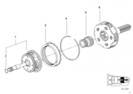 A5S560Z planet wheel set II + III