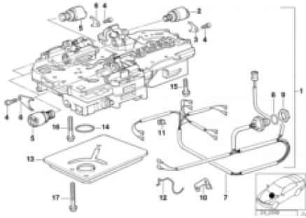 ZF 4hp22/24-EH control unit+attach.parts