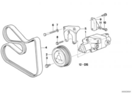 Hydro steering-tandem vane pump