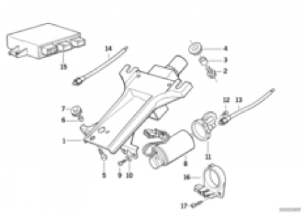 Steering column-elec.adjust./singl.parts