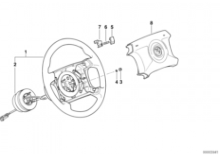 M technic steering wheel airbag