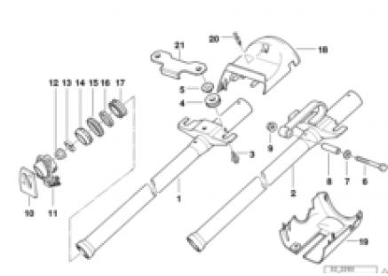 Fixed steering column tube