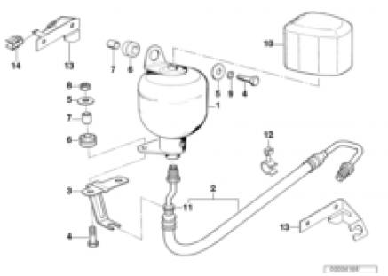 Levelling device/pressure accumulator