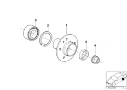 Side shaft/wheel bearings
