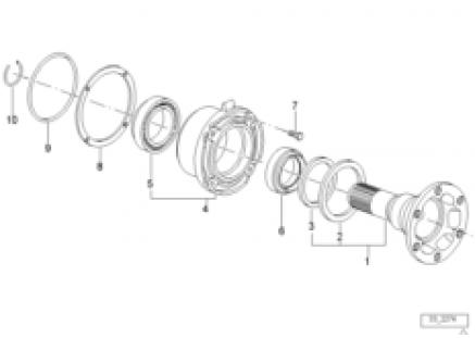 Drive flange suspension/gasket