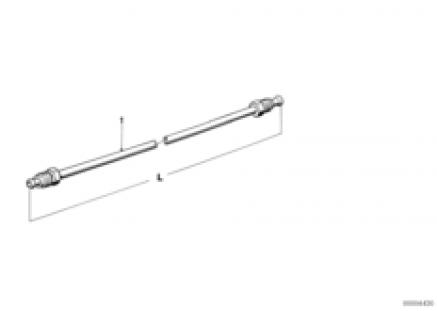Brake pipe-straight version
