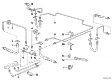 Brake pipe front/rear/mounting