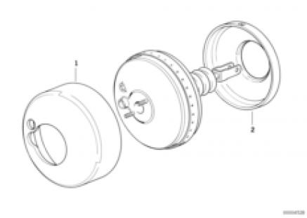 Power brake unit sound insulation