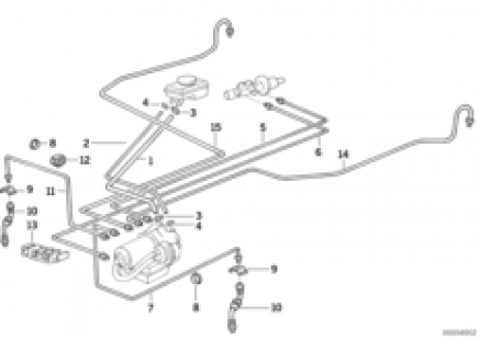 Brake pipe front ABS/ASC+T
