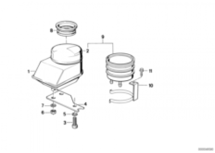 Fluid container rear