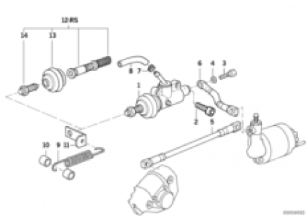 Master cylinder/ABS rear