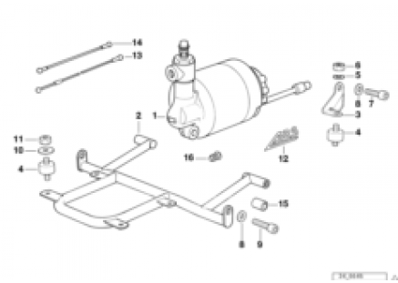 Pressure modulator ABS I