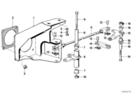 Foot controls/deflection rod