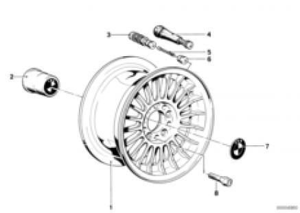 Light alloy rim