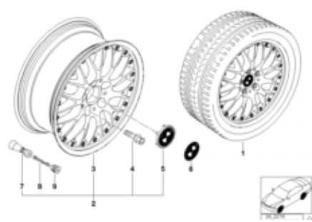 BMW l-alloy wheel,cross spoke comp.II 42