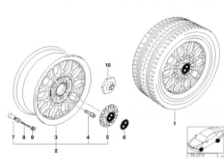 BMW light alloy wheel, cross spoke 29