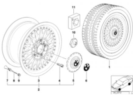 Cross-spoke,composite wheel (styl.5)