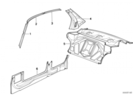 Body-side frame/partition