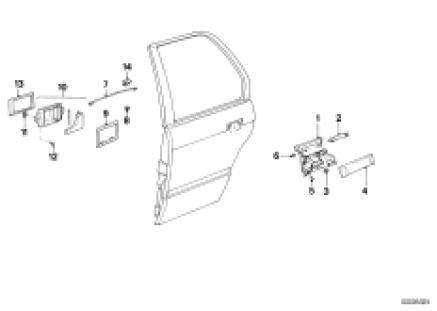 Closing system, door, rear