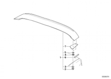 Rear spoiler M-technik