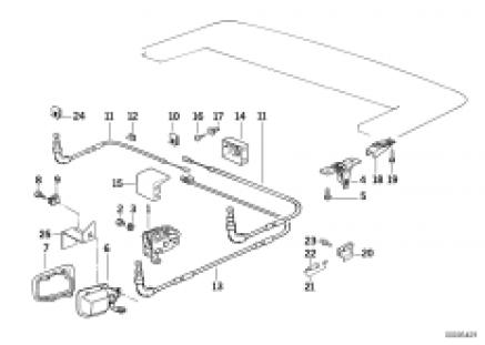 Manual folding top flap mechanism