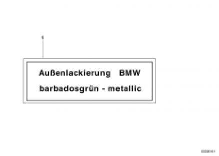 Label outer paint metallic