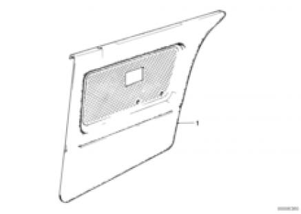 Door trim, rear