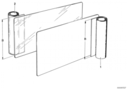Cover material, running meter