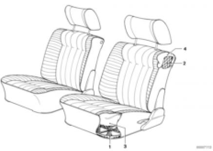 Spring frame seat front
