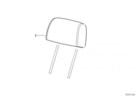 Seat, front, head restraint