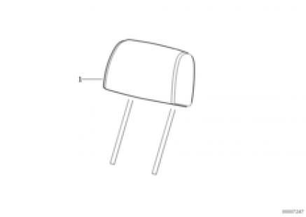 Seat, front, head restraint, Sport seat