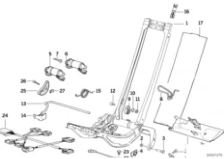 BMW sports seat frame electrical