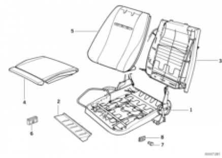 BMW sports seat upholstery parts