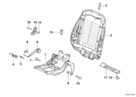 BMW sports seat frame mechanical